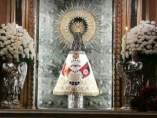 Bandera de Falange en la Virgen del Pilar