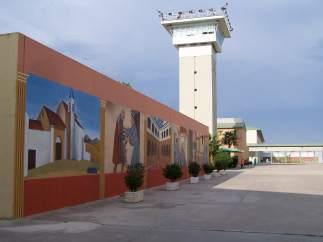 Imagen del patio de la prisión de Huelva.