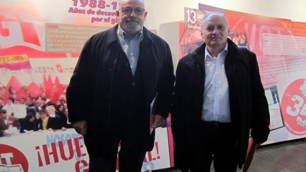 Temprano (d) junto al secretario provincial de UGT.