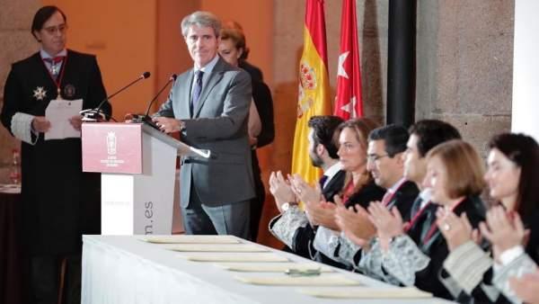 Garrido, este lunes, en una entrega de diplomas a miembros del Colegio de Abogados de Madrid.