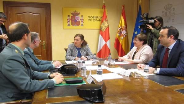 Reunión en la Delegación con la Guardia Civil sobre la situación de Valladolid