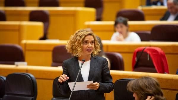 La Ministra Meritxell Batet En La Sesión De Control Al Gobierno En El Senado