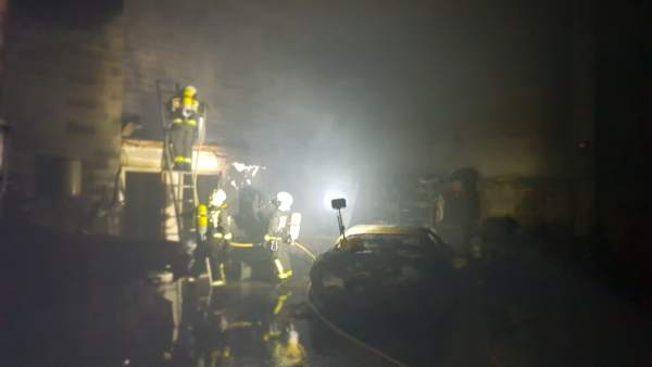 Incendio en un taller de Meruelo