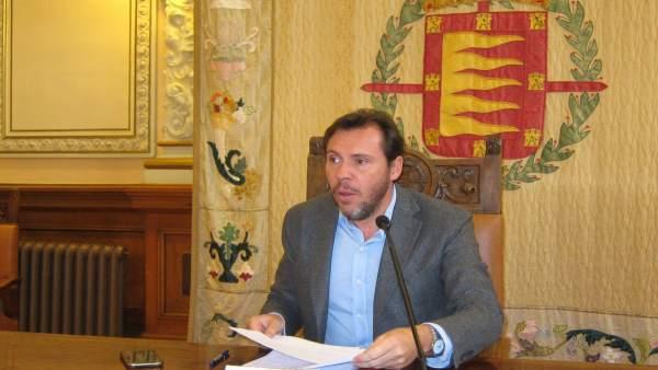 El alcalde de Valladolid, Óscar Puente. 21-11-18