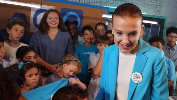 Millie Bobby Brown, la embajadora más joven de Unicef