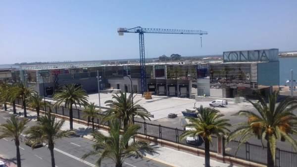 Lonja del puerto de Huelva.