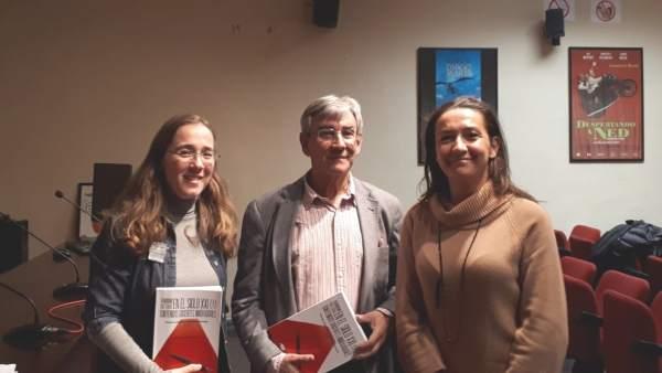 De izd a dcha Montse Jurado Martín , Francisco Rodríguez Pastoriza y Ana Anguera