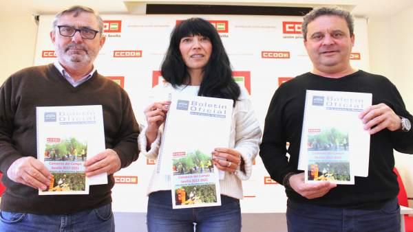 Alfonso Vidán, Mónica Vega y Juan Antonio Caravaca