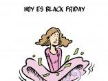 Hoy es Black Friday, viñeta de Malagón