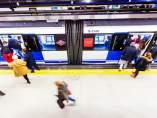 Un vagón de Metro.