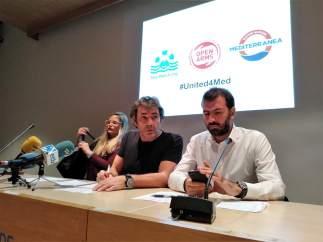 Oscar Camps con representantes de Sea Watch y Saving Humans Mediterranea