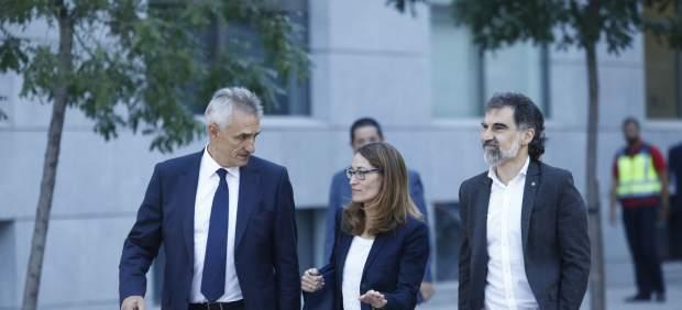 Jordi Cuixart entrando a la Audiencia Nacional.