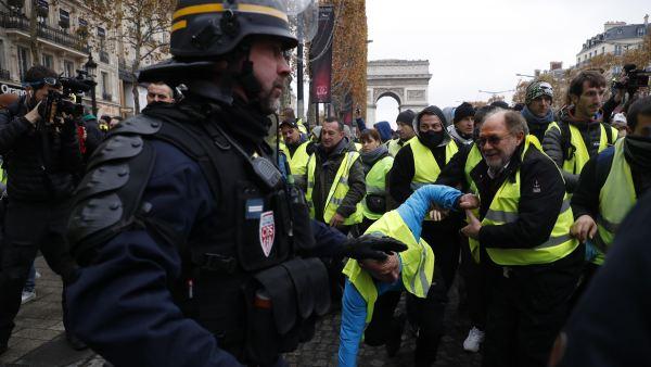Manifestaciones en París