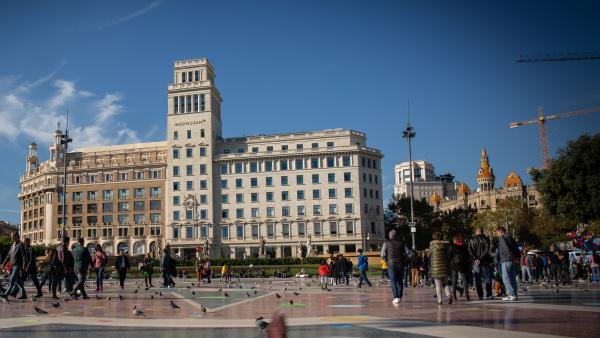 Plaza Catalunya de Barcelona.