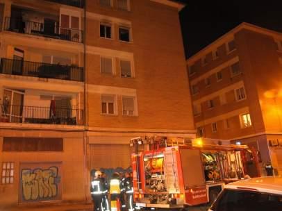 Una mujer muere en un incendio en Pamplona