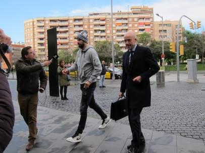 Gerard Piqué En La Ciutat De La Justícia