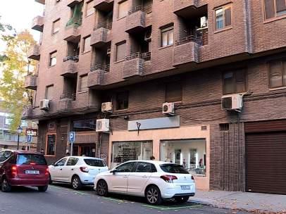 El edificio en el que vivía la mujer