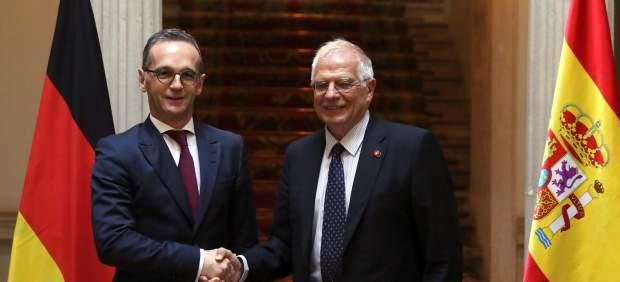 Borrell y Maas, este lunes en Madrid.
