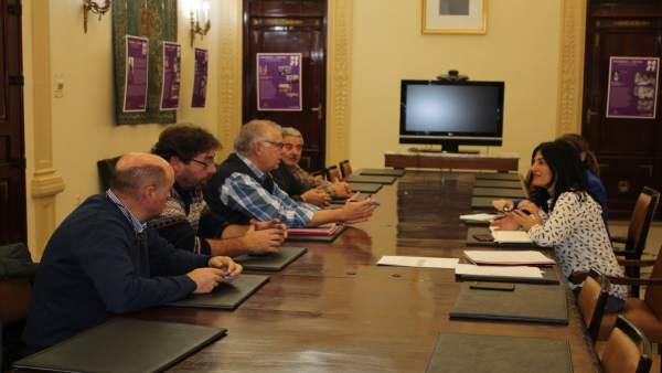 Reunion entre regantes y subdelegación del Gobierno en Granada