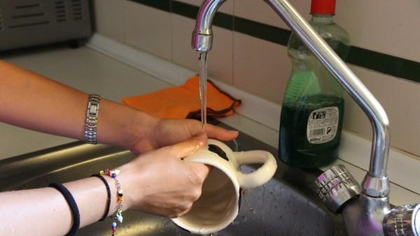 Agua grifo potable limpiar fontanería limpieza cloro