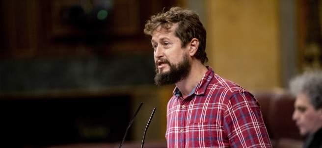 José David Carracedo, diputado de Podemos en el Congreso por Bizkaia.