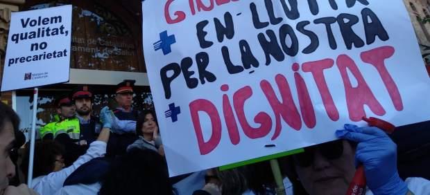 Huelga de médicos de atención primaria en Cataluña.