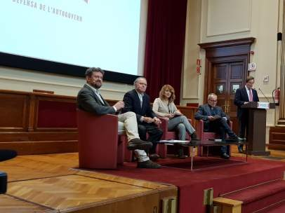 Acte de Portes Obertes al Catalanisme, con L. Bonet y J. Coscubiela.
