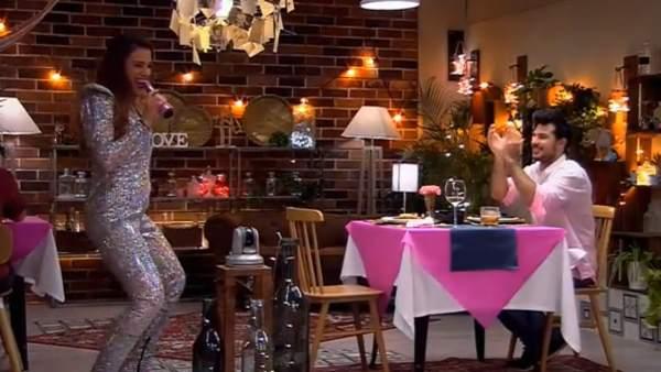 Marina y Oriol, en 'First Dates'.