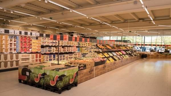 Interior de supermercado Lidl