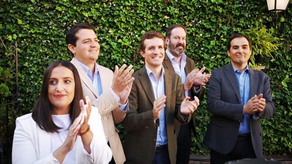 Pablo Casado, José Antonio Nieto, Adolfo Molina, Beatriz Jurado yJosé Mª Bellido
