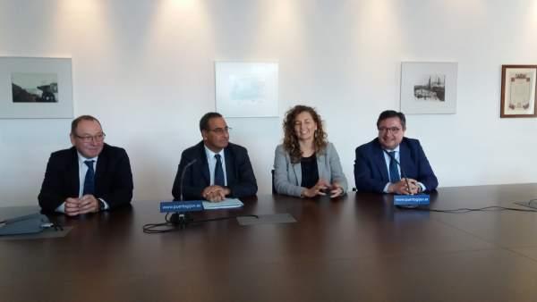 Santiago Rodríguez, Fernando Lastra, María Ornella y Laureano Lourido