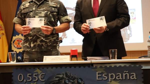 Sello Correos por 40 años de GEO Guadalajara