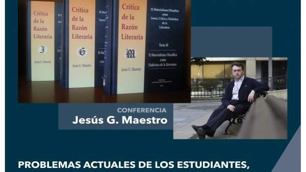 Cartel de la conferencia de Jesús G. Maestro
