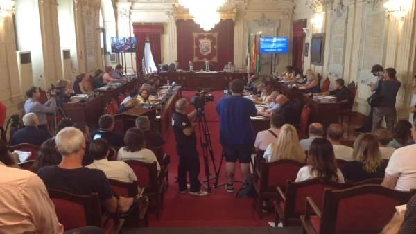 Pleno del Ayuntamiento de Málaga Septiembre