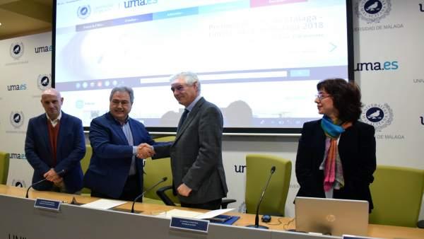 Firma del convenio entre la UMA e IFAPA