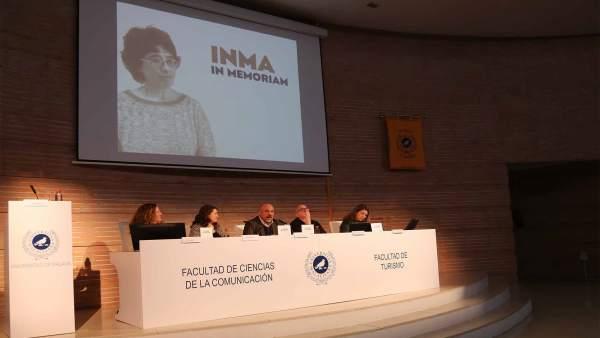 Homenaje a la profesora de Periodismo Inmaculada Sánchez