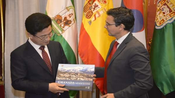 Visita del alcalde de Daejeon a Granada