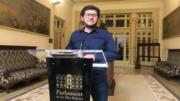 Portavoz de Podemos en el Parlament, Alberto Jarabo