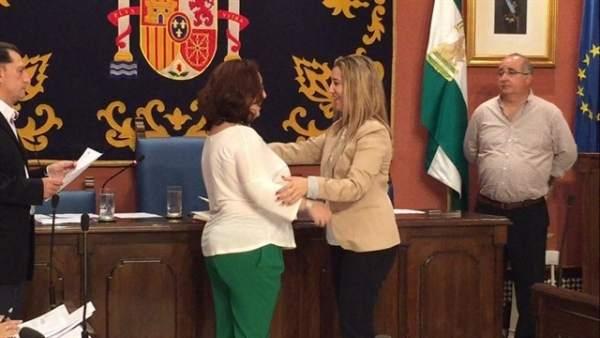 PIlar Benítez al tomar su acta en junio de 2016