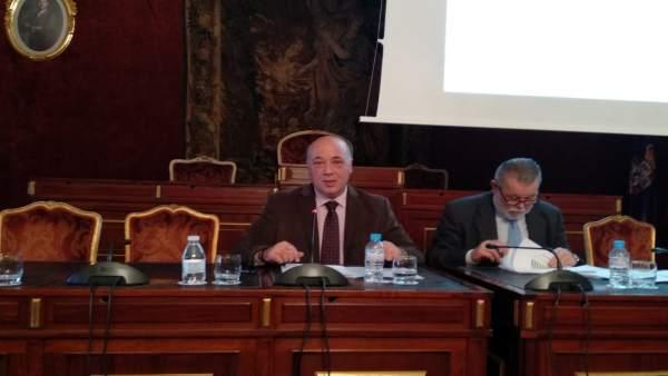 Antonio Ruiz en la presentación del presupuesto