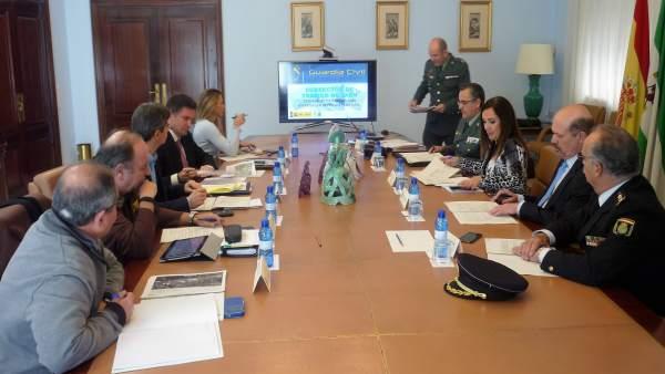 Reunión del operativo estatal de vialidad invernal en carreteras de Jaén.