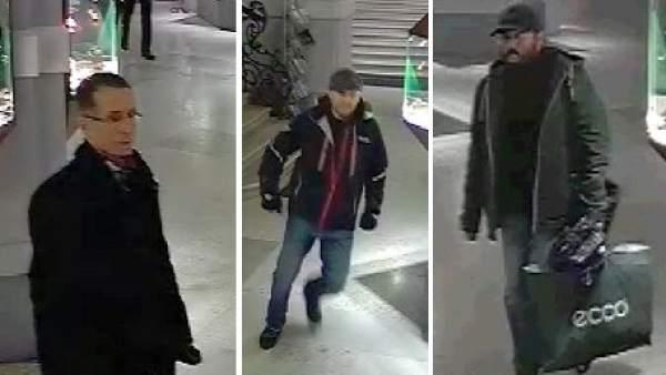 Los tres presuntos ladrones del cuadro de Renoir.