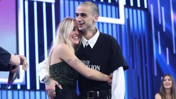 María y su novio, en 'Operación Triunfo'.