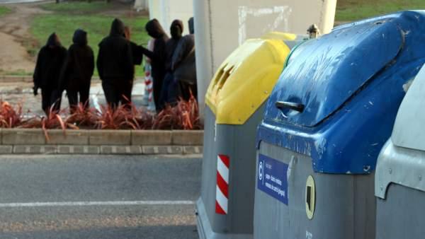 Barricadas en la UAB
