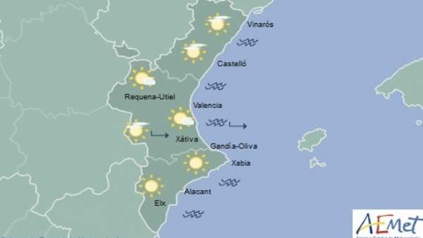 Cels clars i màximes de fins a 20 graus aquest dijous a la Comunitat Valenciana