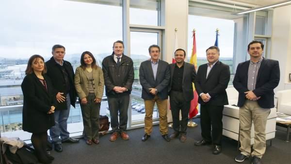 El consejero Martín con la delegación mexicana