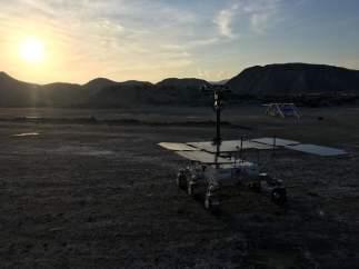 Prorotipo del rover ExoMars en el desierto de Tabernas.