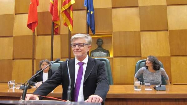 El alcalde Pedro Santisteve en el debate