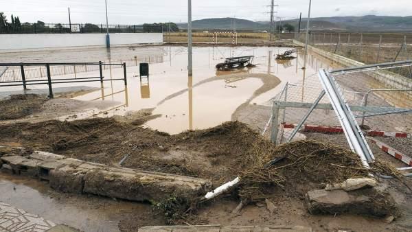 Inundaciones octubre en Bobadilla Estación