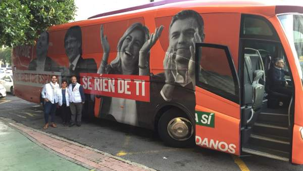Ciudadanos Cs autobús recorre málaga 2D
